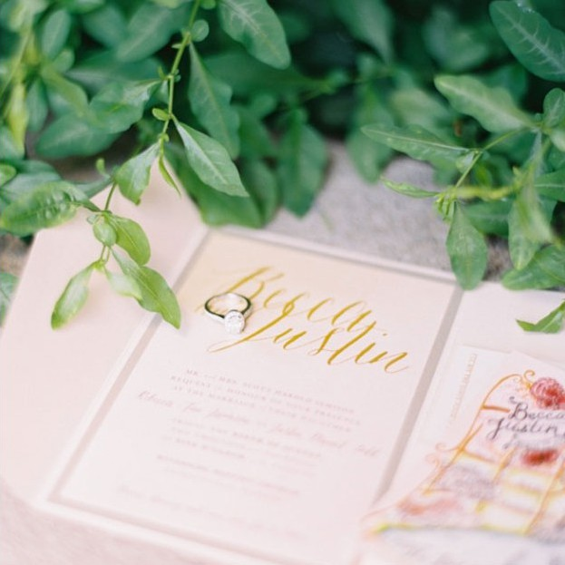 Wedding Invitation | Becca + Justin