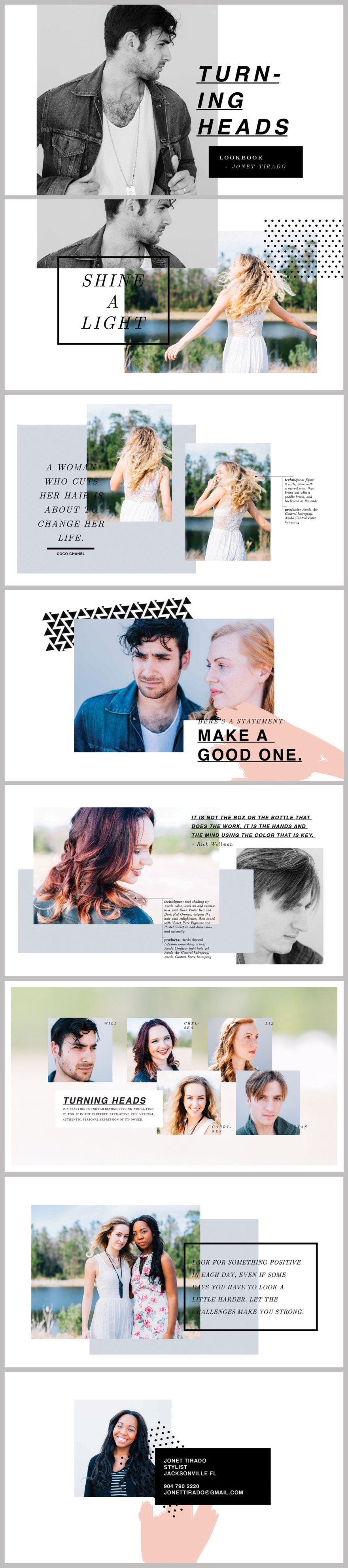 Digital layout Design // Jonet, Beacon Hairstyle Competition
