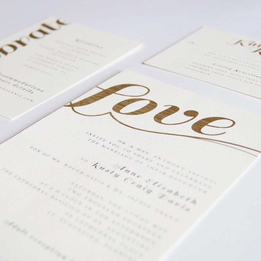Wedding Invitation Suite | Anne + Rusty, St. Augustine Rustic Wedding