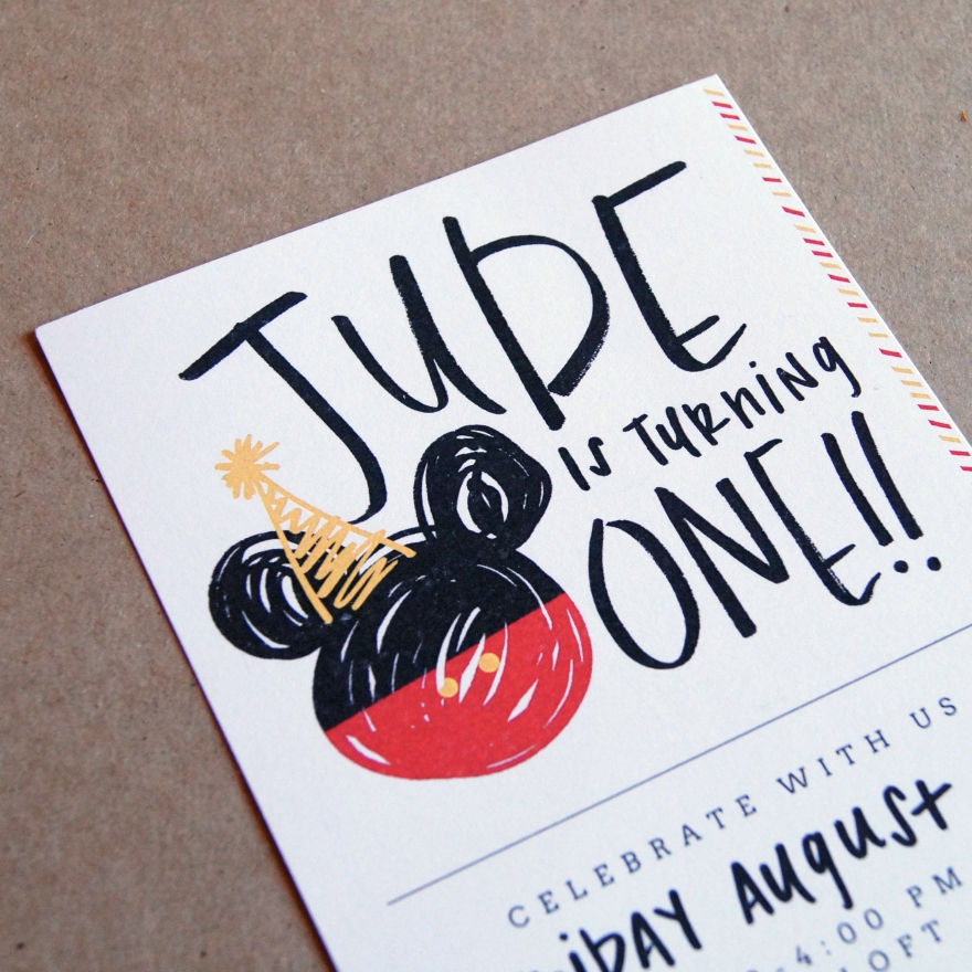 Invitation | Mickey Mouse 1st Birthday Party